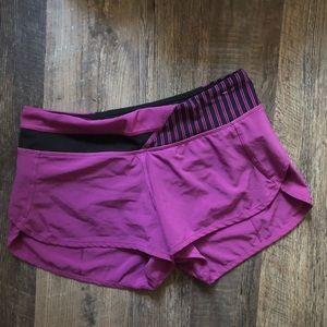 Lululemon   Purple Black Speed Shorts